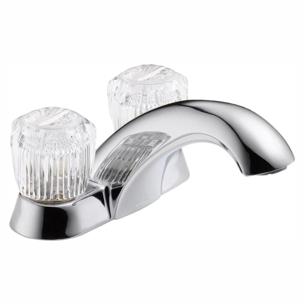 Delta Classic 4 in. Centerset 2-Handle Bathroom Faucet in Chrome