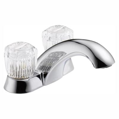 Classic 4 in. Centerset 2-Handle Bathroom Faucet in Chrome