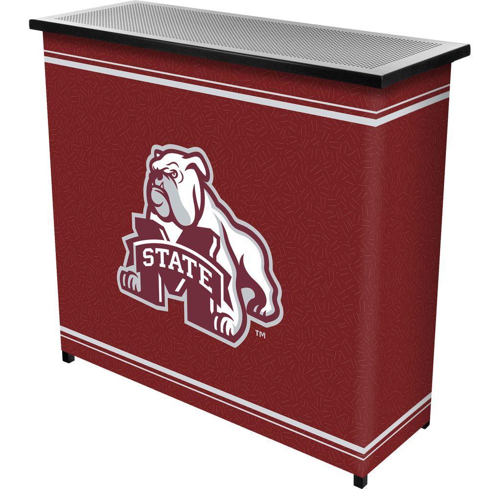 Mississippi State University 2-Shelf Black Bar with Case