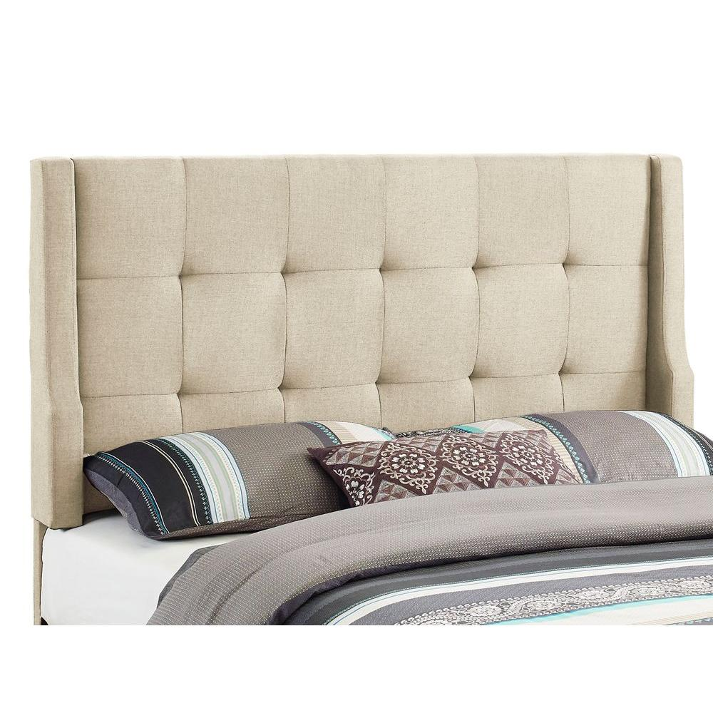 Linon Home Decor Luxe Natural Full Queen Headboard