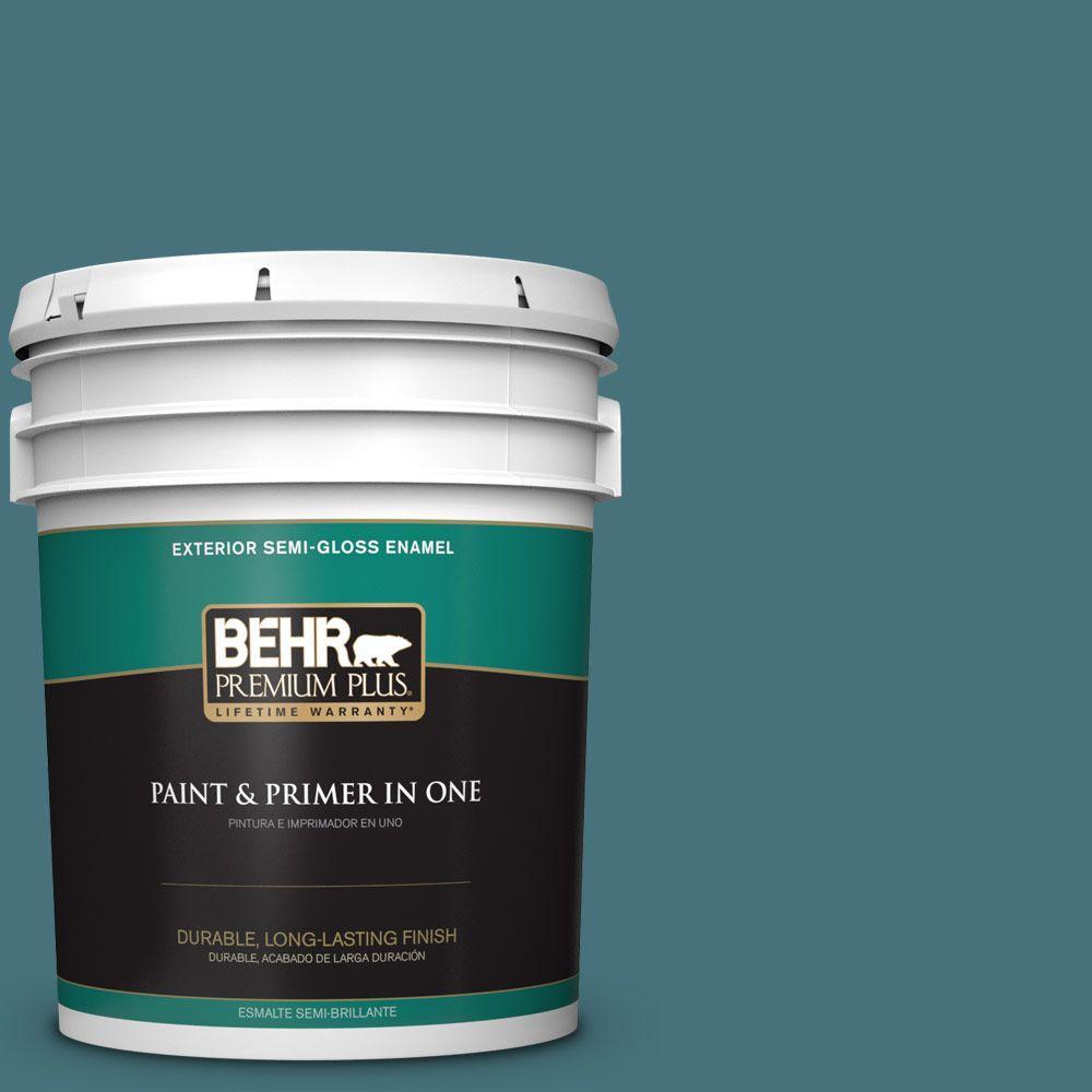 5 gal. #HDC-FL15-03 Blue Sage Semi-Gloss Enamel Exterior Paint