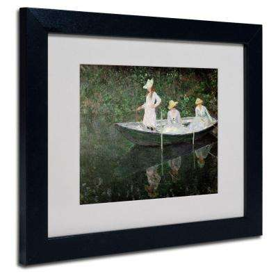 11 in. x 14 in. The Boat at Giverny Matted Black Framed Wall Art