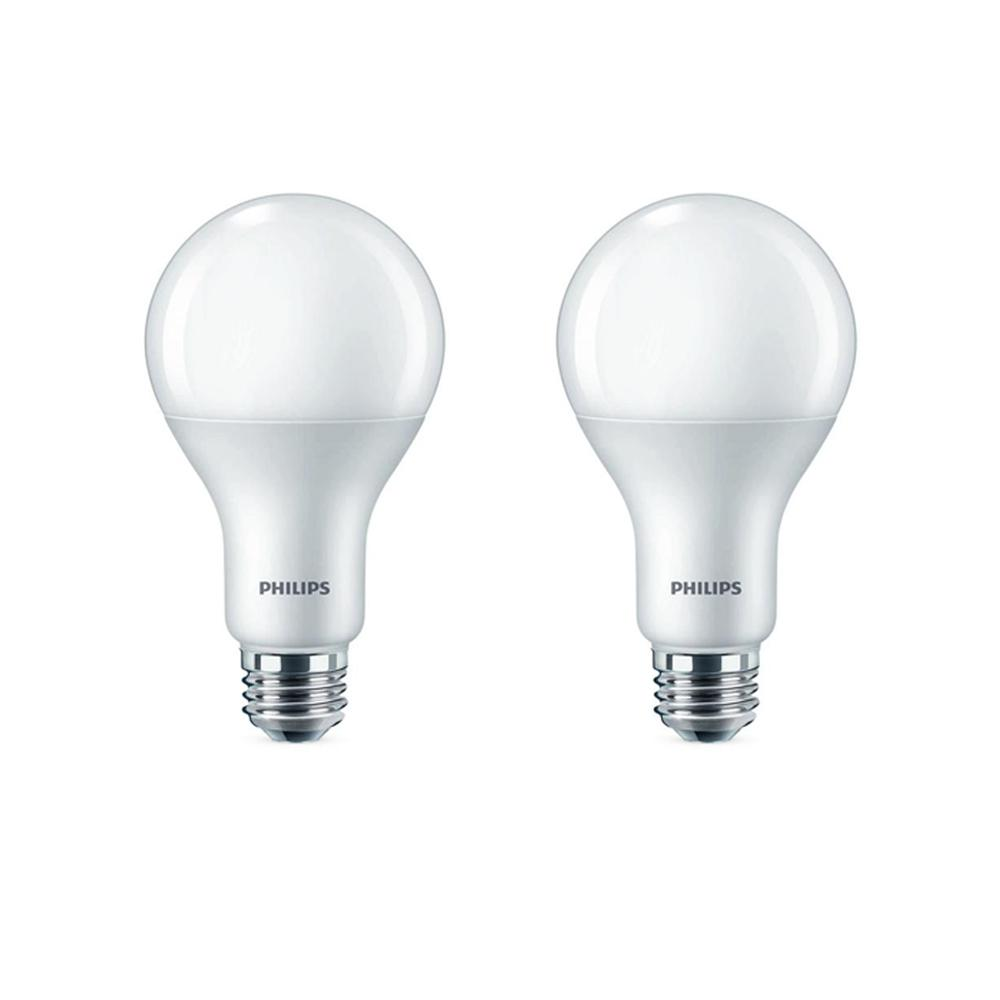 Philips Philips 100-Watt Equivalent A21 Dimmable with Warm Glow Dimming Effect Energy Saving LED Light Bulb Soft White (2700K) (2-Pack)
