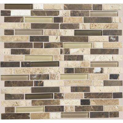 Stone Radiance Morning Sun 11-3/4 in. x 12-1/2 in. x 8 mm Glass and Stone Mosaic Blend Wall Tile (1 sq. ft. / piece)