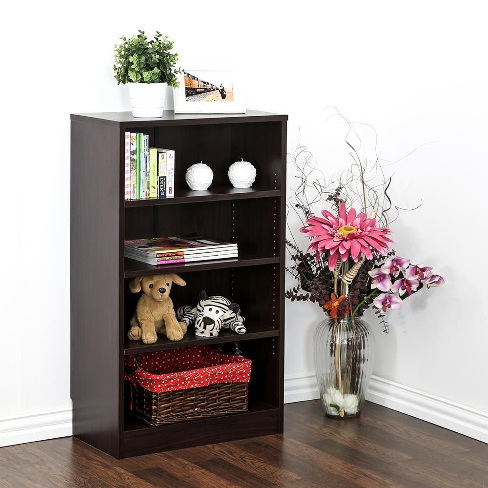 Indo Espresso 4-Tier Open Book Shelf