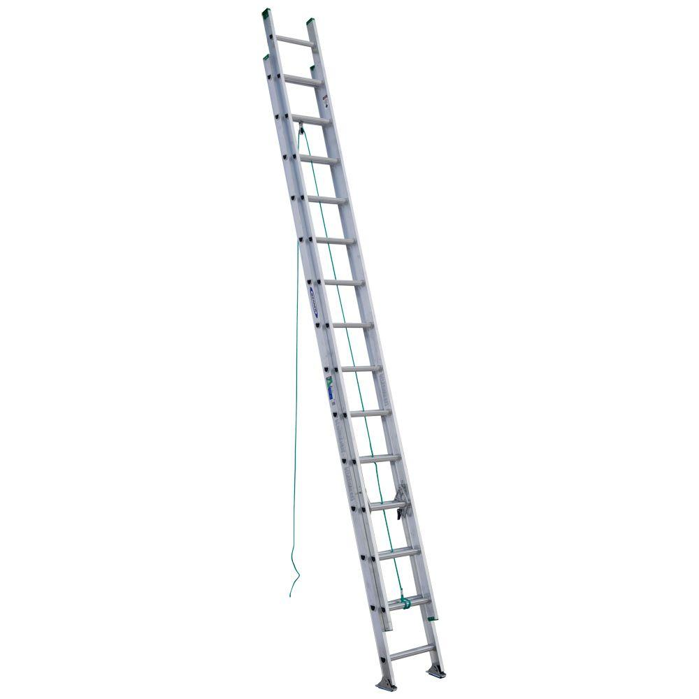 Werner 28 ft. Aluminum D-Rung Extension Ladder with 225 lb. Load Capacity Type II Duty Rating