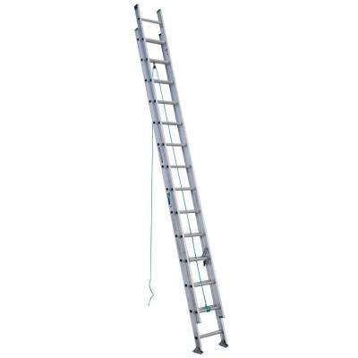 28 ft. Aluminum D-Rung Extension Ladder with 225 lb. Load Capacity Type II Duty Rating