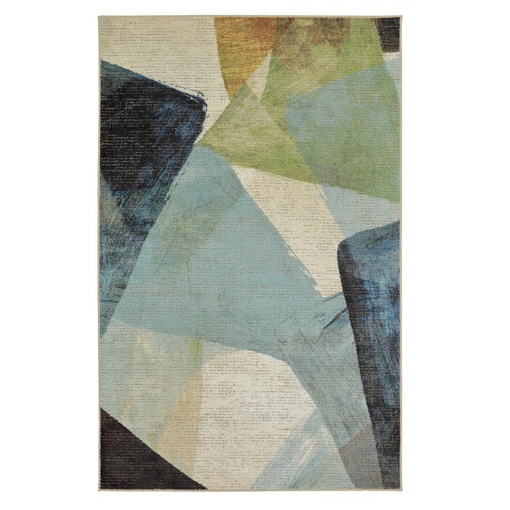 Transparent Rhythm Medium Blue 7 ft. 6 in. x 10 ft. Area Rug