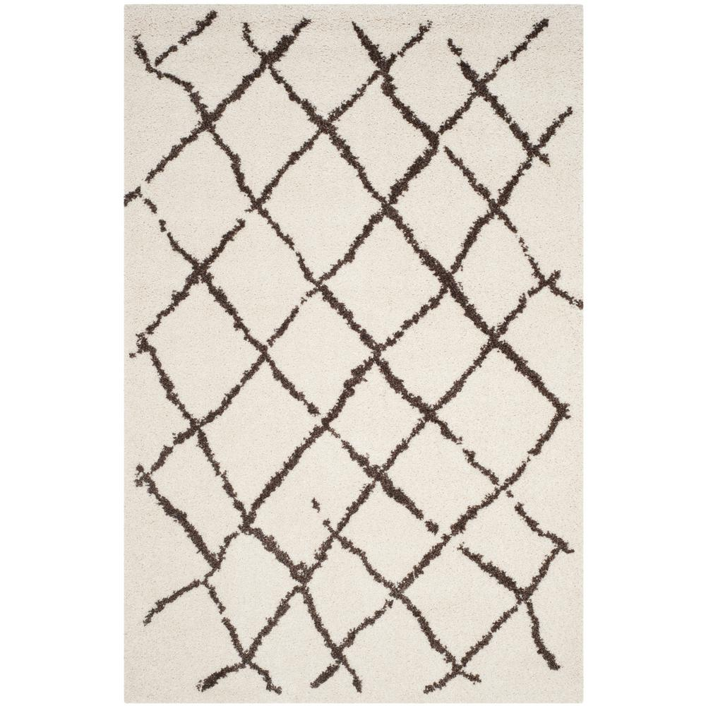 Safavieh Berber Shag Cream Brown 8 Ft X 10 Area Rug