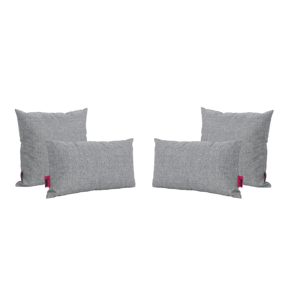 Coronado Grey Outdoor Throw Pillow (4-Pack)