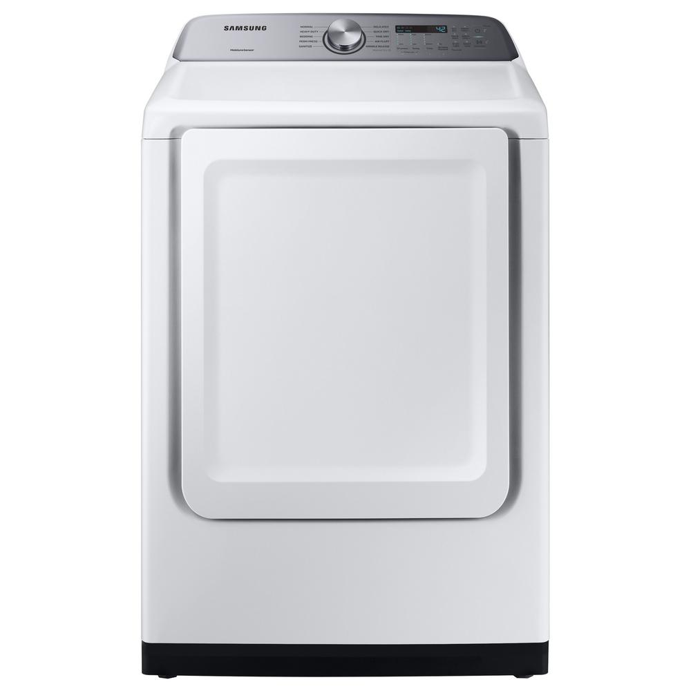 Samsung 7 4 cu  ft  White Electric Dryer with Sensor Dry