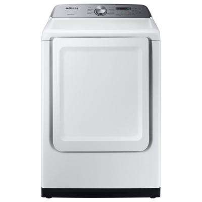 7.4 cu. ft. White Electric Dryer with Sensor Dry