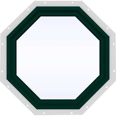23.5 in. x 23.5 in. V-4500 Series Fixed Octagon Vinyl Window - Green