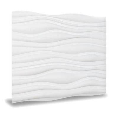 24 in. x 24 in. Dunes Decorative Vinyl Wall Paneling in White