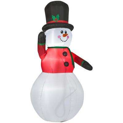 8.99 ft. Pre-lit LED Inflatable Snowman Airblown