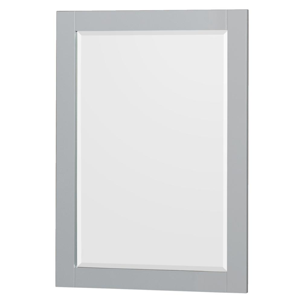 Acclaim 24 in. W x 36 in. H Framed Wall Mirror in Oyster Gray
