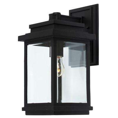 Freemont 1 - Light Black Outdoor Wall Lantern