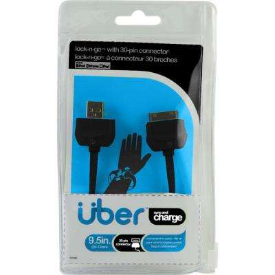 Lock & Go Apple 30 Pin Sync Charge Cable Bracelet - Black