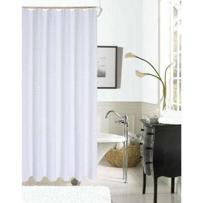 Exclusive Spa 251 Hotel Collection 72 In White Waffle Shower Curtain