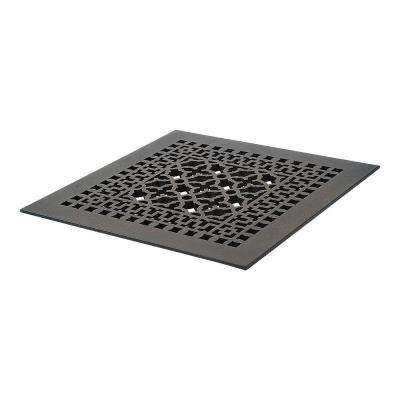 Scroll 12 in. x 12 in. Aluminum Grille without Mounting Holes, Oil Rubbed Bronze