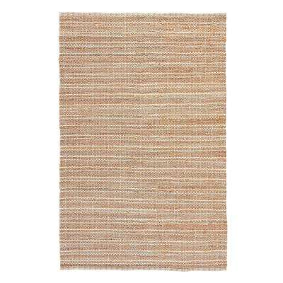 Natural Almond Buff 8 ft. x 10 ft. Stripe Area Rug