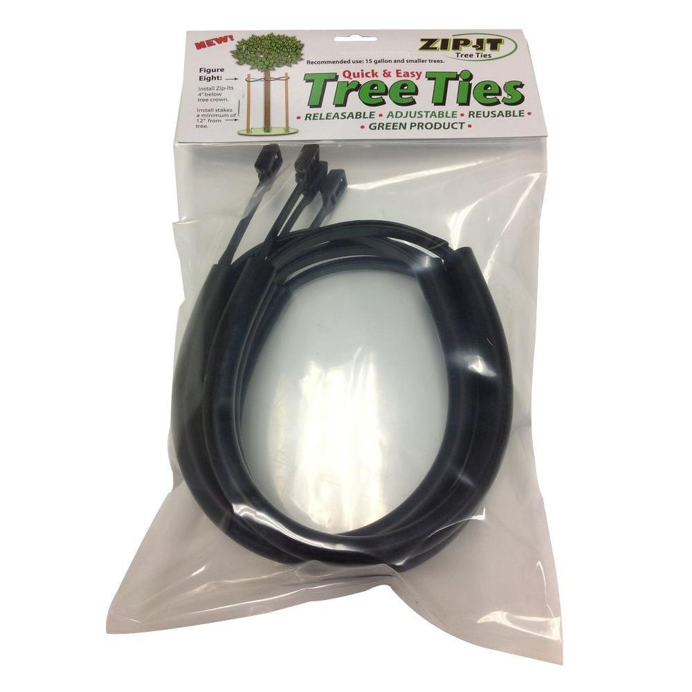Zip-it Tree Ties 40 in. UV Protected Nylon Tree Tie (4-Pack)-Z40/4PK ...