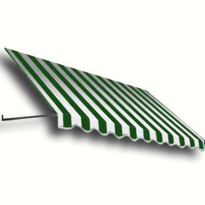 4 ft. Dallas Retro Window/Entry Awning (56 in. H x 36 in. D) in Forest / White Stripe