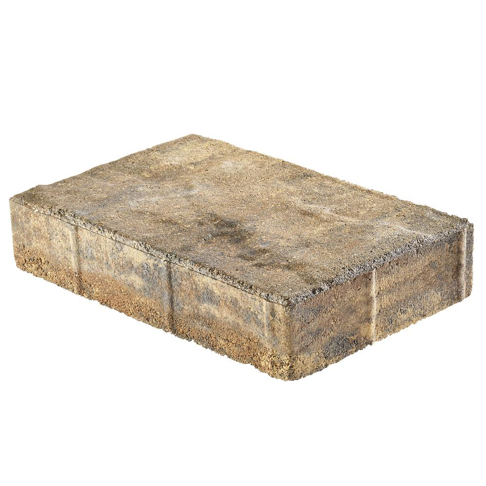 Pavestone Taverna 11.81 in. L x 7.87 in. W x 1.97 in. H Rectangle Earth Blend Concrete Paver (192-Piece/124 sq. ft./Pallet)