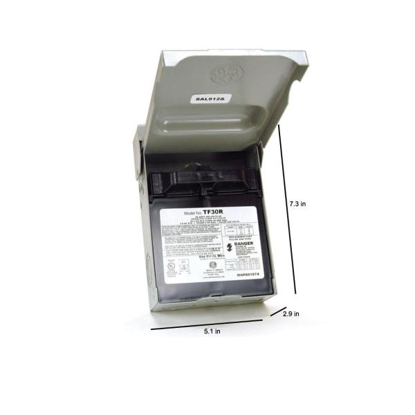 GE 30 Amp 120/240-Volt 240-Watt Fused AC Disconnect-TF30RCP - The Home Depot | Hvac Junction Box Wiring |  | The Home Depot