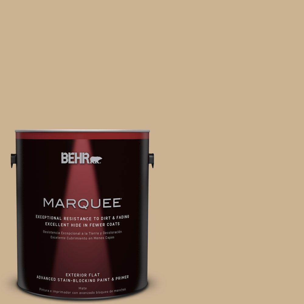1-gal. #PWL-84 Tropical Tan Flat Exterior Paint