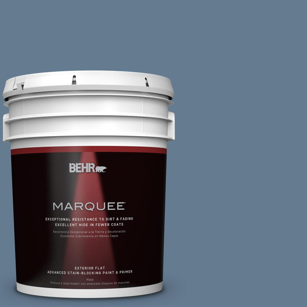 BEHR MARQUEE 5-gal. #S510-5 Skinny Jeans Flat Exterior Paint