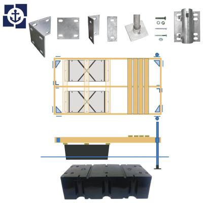 Semi-Floating Wood Dock Kit up to 96 sq. ft.