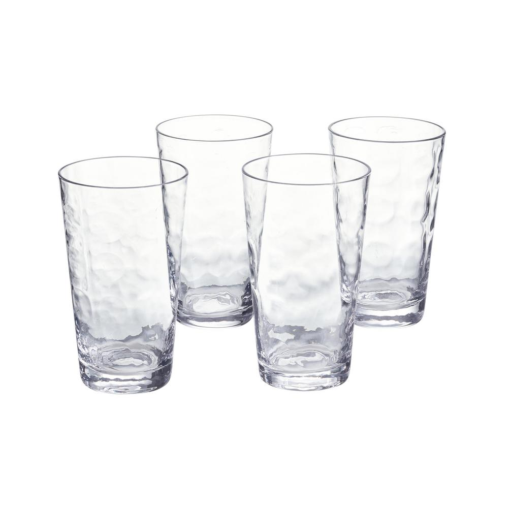 Home Decorators Collection Vinings 18 fl. oz. Glass Tumblers (Set of 4), Clear was $24.98 now $9.99 (60.0% off)