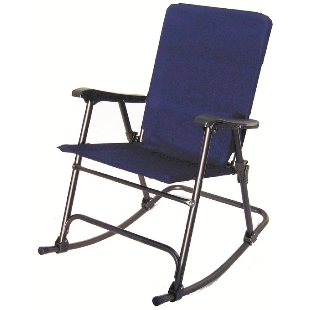 Brilliant Prime Products Elite Blue Folding Rocker Beatyapartments Chair Design Images Beatyapartmentscom
