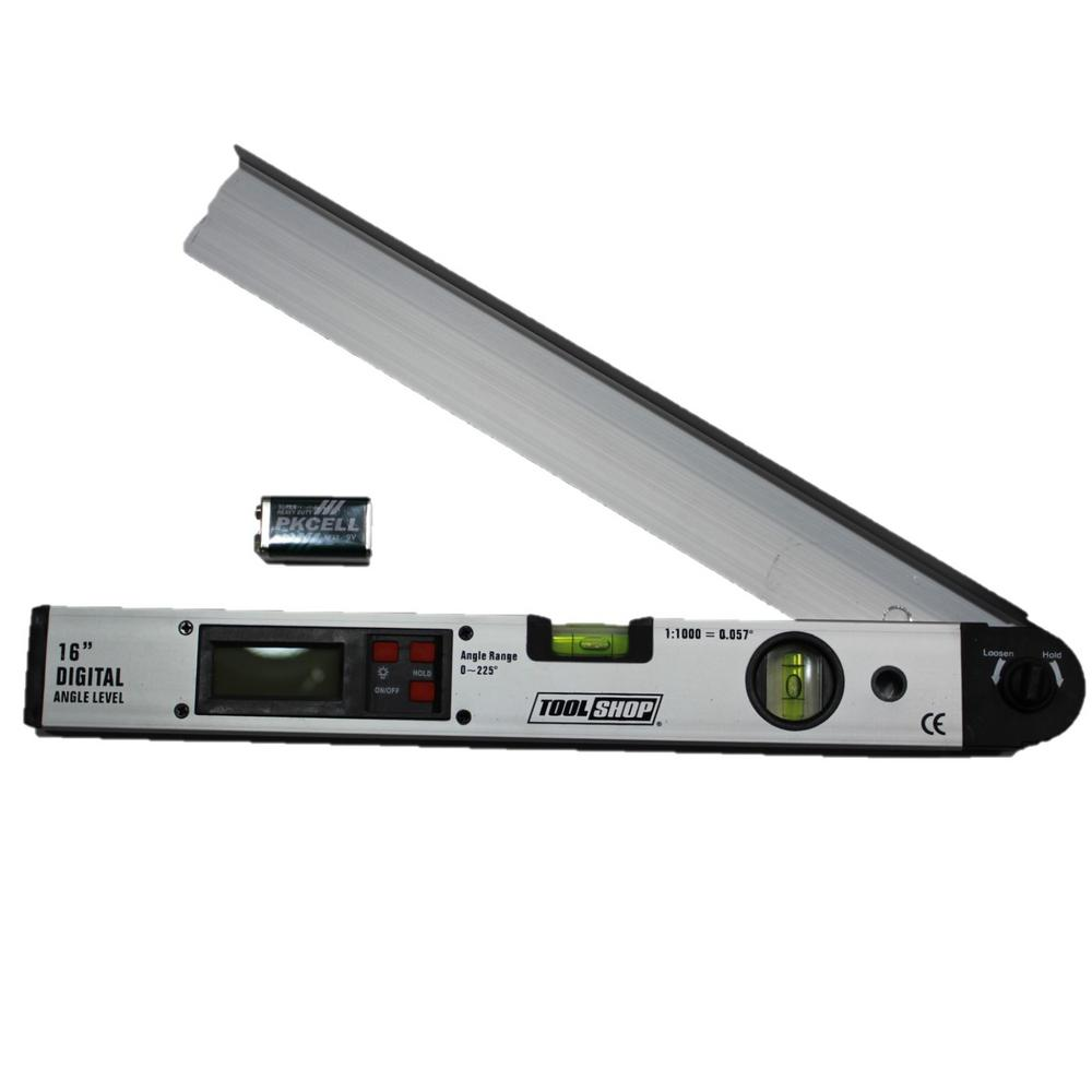 Digital Angle Finder >> Gino Development 16 In Digital Angle Level 04 0677 The Home Depot