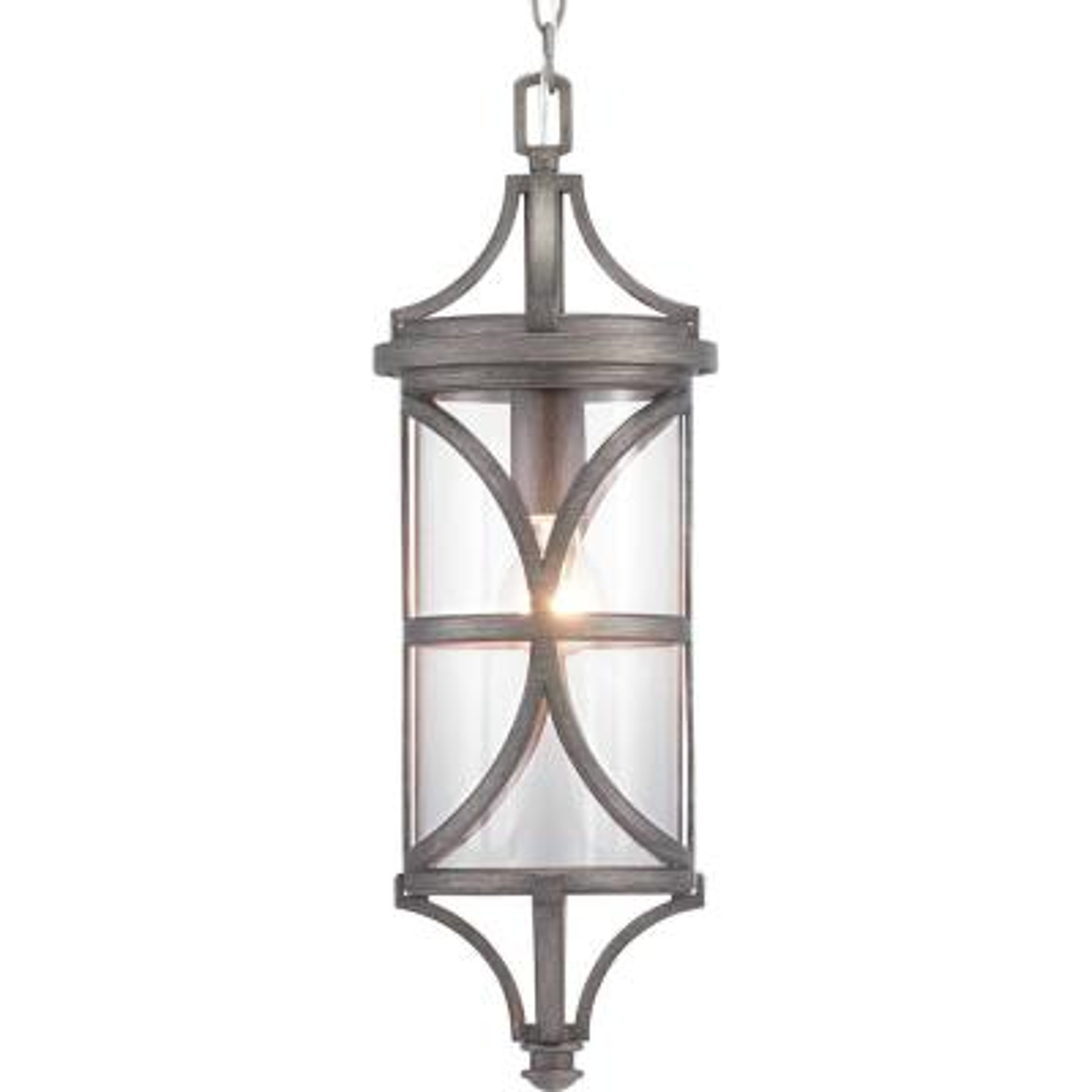 Morrison Collection Antique Pewter 1-Light Hanging Lantern