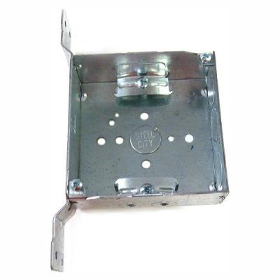 2-Gang 4 in. New Work Metal Square Electrical Box with CV Bracket (Case of 25)
