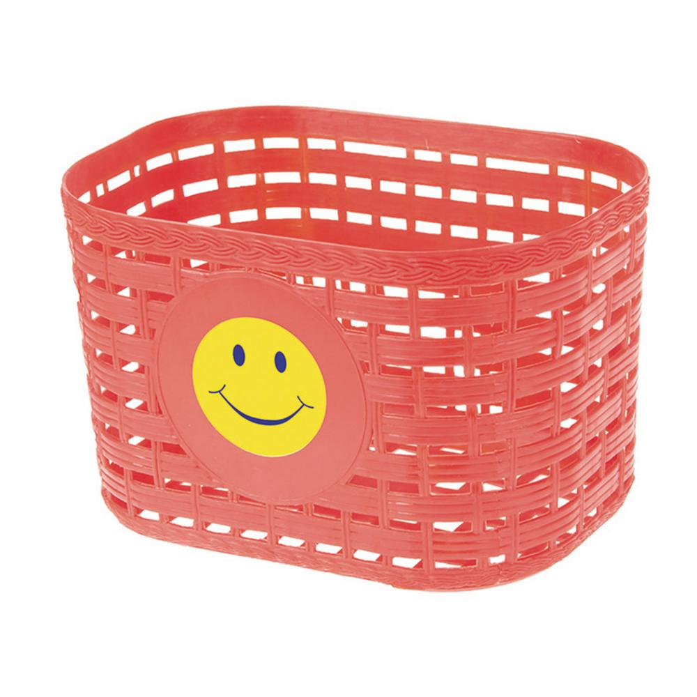Ventura Smiley Face Children's Basket in Red