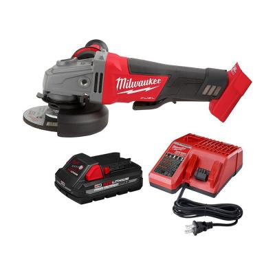 M18 FUEL 18-Volt Lithium-Ion Brushless Cordless 4-1/2 in. / 5 in. Grinder W/ 3.0Ah Battery and Charger