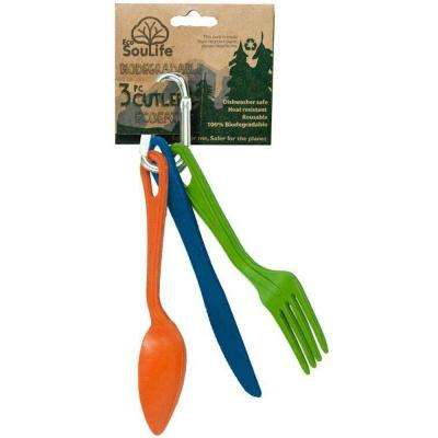 Bamboo 3-Piece Assorted Colors Aussie Outback Cutlery