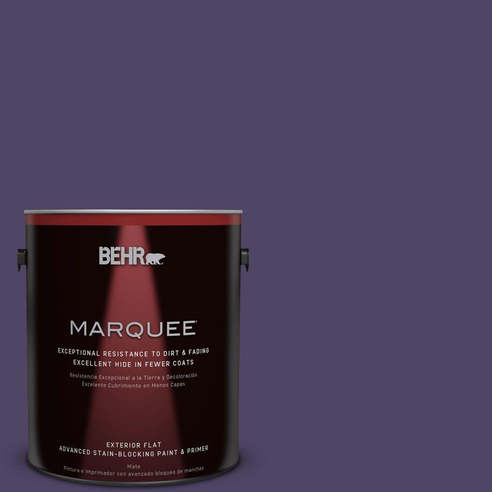 1-gal. #S-H-650 Berry Charm Flat Exterior Paint