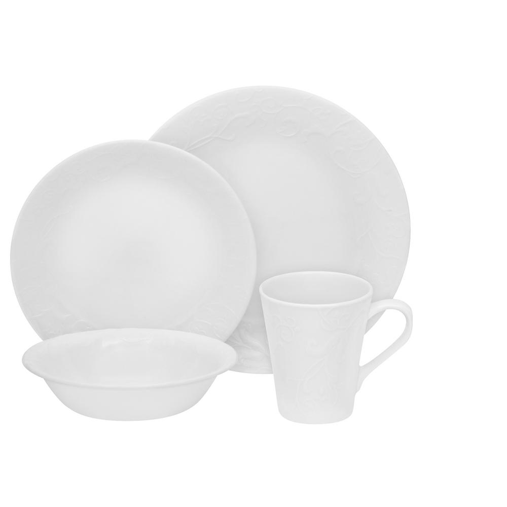 Embossed 16-Piece Bella Faenza Dinnerware Set