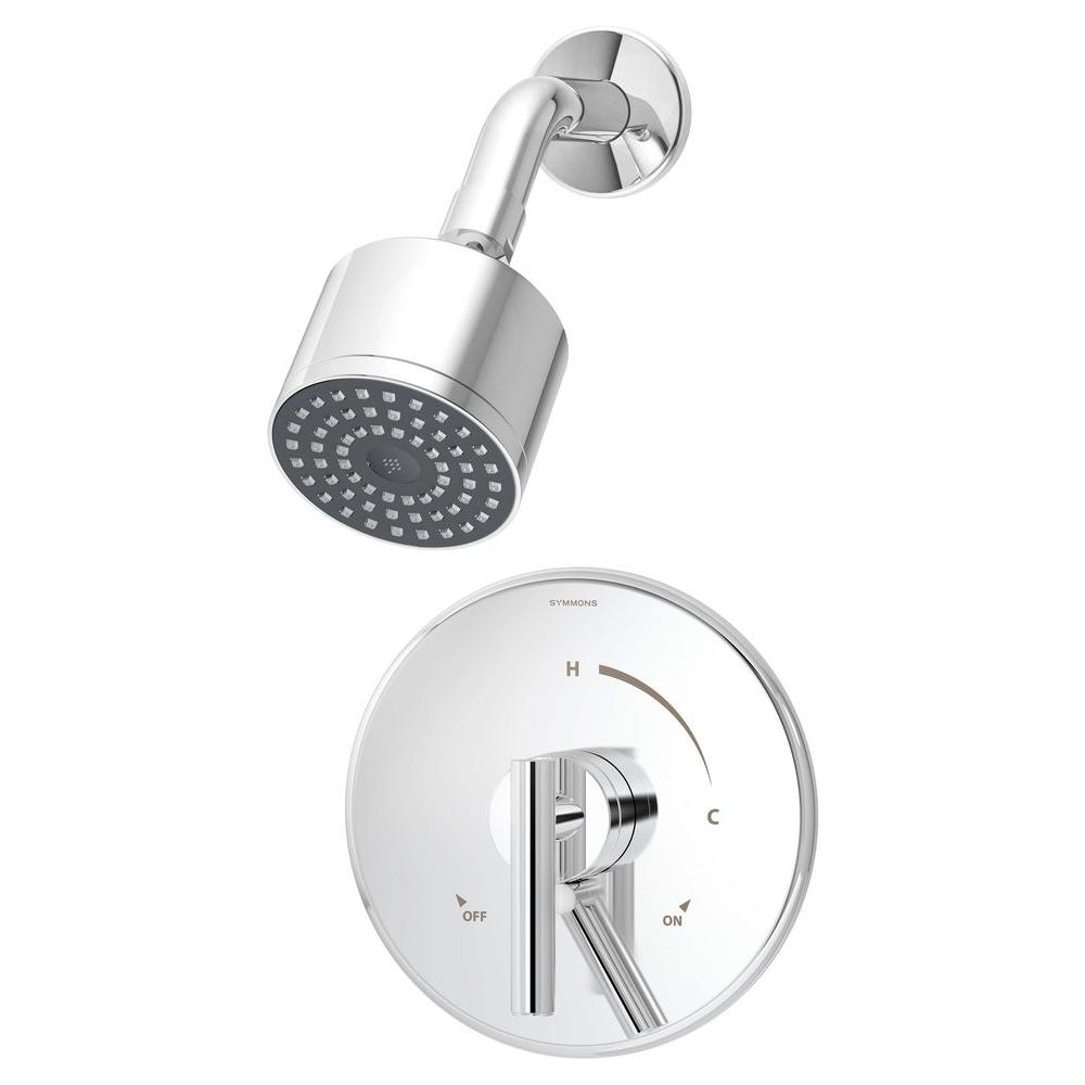 Symmons S-4501-TRM Canterbury Single Handle Shower Faucet Trim with Integral Volume Control in Chrome , Valve Not Included