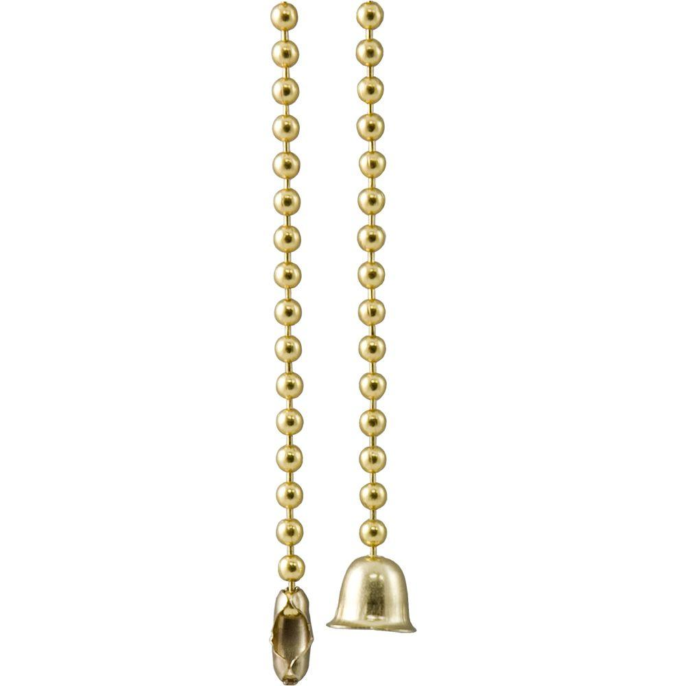 GE 36 in. Solid Brass Bead Ball Type Pull Chain Extension