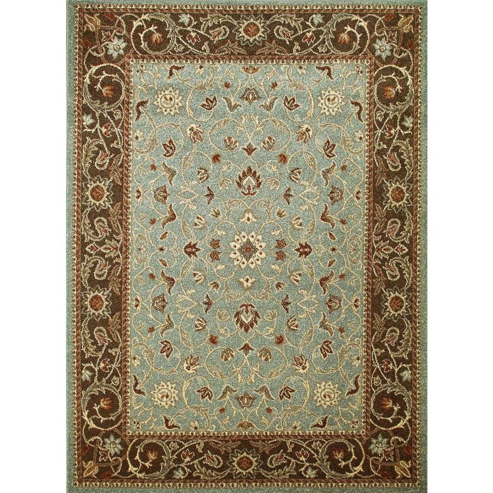 Chester Flora Blue 3 ft. x 5 ft. Area Rug