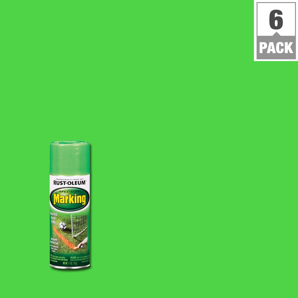 Fluorescent Green Marking Spray Paint 6 Pack