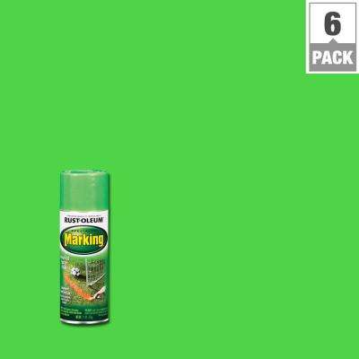 11 oz. Fluorescent Green Marking Spray Paint (6-Pack)