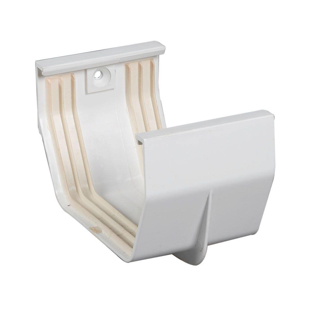 Amerimax Home Products 4 in. White Vinyl Joiner