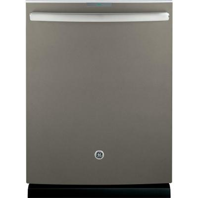 Profile Top Control Smart Dishwasher in Slate with Stainless Steel Tub and WiFi, Fingerprint Resistant, 40 dBA