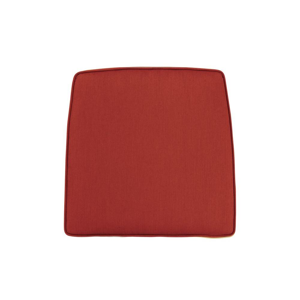 Greystone Replacement Outdoor High Dining Chair Cushion in Cinnabar